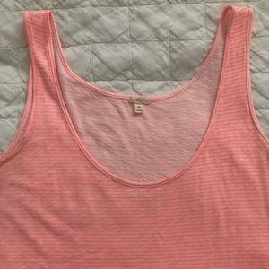 J. Crew Pink Striped Sleeveless Top